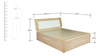 Queen Bed with Hydraulic Storage in Natural & White Colour by Penache Furnishings
