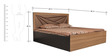 Queen Bed with Storage in Dark Brown Colour by Parin