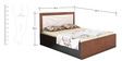 Queen Bed with Storage in Light Brown Colour by Parin