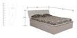 Queen Bed with Storage in White Colour by Parin