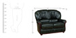 Queen Two Seater Sofa in Dark Green Colour by Star India
