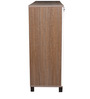 Quantum Mid Height Storage in Chocolate & Lily Color by Crystal Furnitech