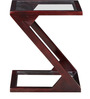 Mosby Sheesham Wood End Table in Passion Mahogany Finish by Woodsworth