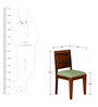 Oakland Dining Chair in Provincial Teak Finish by Woodsworth
