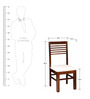 Winona Dining Chair in Provincial Teak Finish by Woodsworth