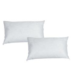 R Home White Polyester 20 X 12 Inch Cushion Inserts - Set Of 2