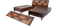 Rado Queen Bed with storage in Brown colour by Looking Good Furniture
