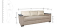 Raymond Three Seater Sofa in Beige Colour by Star India
