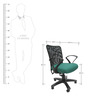 Rado Office Ergonomic Chair in Black & Green Colour by Chromecraft