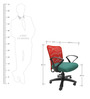Rado Office Ergonomic Chair in Red & Green Colour by Chromecraft