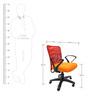 Rado Office Ergonomic Chair in Red & Orange Colour by Chromecraft
