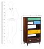 Kelis Book Shelf In Multi-Colour Finish by Bohemiana