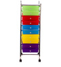Rainbow Service Trolly cum Storage in Multi-Colour by Royal Oak