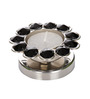 Rajrang Silver Crystal Diamond Candle Holder