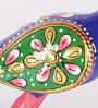 Rajrang Multicolour White Metal Peacock Hand Painted Handicraft