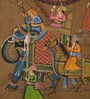 Rajrang Paper 9 x 13 Inch Dazzling Traditional Unframed Painting