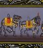 Rajrang Silk & Paper 11 x 3 Inch Ethnic Elephant Unframed Painting