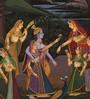 Rajrang Silk & Paper 7 x 9 Inch Charming Lord Radha Krishna Unframed Painting