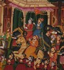 Rajrang Silk 14 x 10 Inch Traditional Unframed Painting