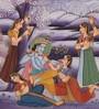 Rajrang Silk 9 x 12 Inch Lord Radha Krishna Unframed Painting