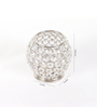 Rajrang Silver Glass, Crystal & Metal Tealight Hand Made Candle Holder