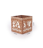 Rajrang White & Brown Wood & MDF Tribal Hand Painted Pen Holder