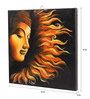 Rang Rage Canvas 16 x 2 x 16 Inch Hand-painted Buddha's Fire Sermon Stretched Framed Painting