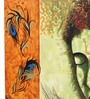 Rang Rage Canvas 16 x 2 x 16 Inch Hand-painted Serene Krishna Stretched Framed Painting