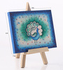 Rang Rage Canvas 8 x 1 x 6 Inch Funky Peacock Pallette Stretched Framed Painting with Easel Stand