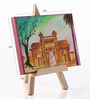 Rang Rage Canvas 8 x 1 x 6 Inch Funky Pride of Mumbai Stretched Framed Painting with Easel Stand