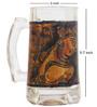 Rang Rage Fiery Ajanta Handpainted Beer Mug - Set of 4