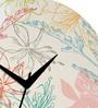 Rang Rage Flower Garden Handpainted Round Clock