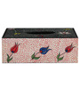 Rang Rage Hand-painted Royal Blossoms Tissue Box Holder