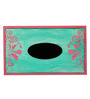 Rang Rage Blue And Pink Wooden Royal Elegance Aqua Tissue Box Holder