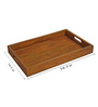 Rang Rage Handpainted Medium Vintage Brown Wood Tray