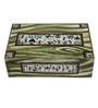 Rang Rage Handpainted Warli Royal Wood & Terracotta 200 ML Kulhads with Tray - Set of 6