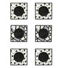 Rang Rage Monochrome Mix Multicolour Wooden Coasters - Set of 6