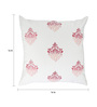 Rang Rage Coral Cotton 16 x 16 Inch Hand-Painted Royal Cushion Cover
