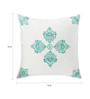 Rang Rage Turquoise Cotton 16 x 16 Inch Handpainted Essence Cushion Covers - Set of 4