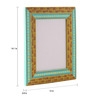 Rang Rage Multicolour Mango Wood 12 x 0.8 x 14.1 Inch Classic Aztec Hand Painted Photo Frame