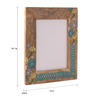 Rang Rage Multicolour Mango Wood 12 x 0.8 x 14.1 Inch Floral Ikat Hand Painted Photo Frame
