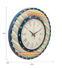 Rang Rage Multicolour MDF 16 Inch Summer Aztec Hand Painted Round Wall Clock