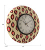 Rang Rage Multicolour MDF 9 Inch Ikat Excellence Hand Painted Round Wall Clock