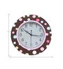 Rang Rage Polkadots Handpainted Round Clock