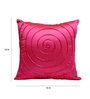 Rang Rage Scarlet Poly Silk 16 x 16 Inch Cushion Cover - Set of 5