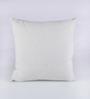 RangDesi Blue & White Silk 16 x 16 Inch Bhagalpuri Hand Block Printed Cushion Cover