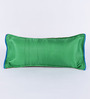 RangDesi Green Brocade 14 x 7 Inch Ethnic Cushion Cover