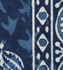 RangDesi Blue Cotton Handblock 108 x 91 Inch Double Bed Sheet (with Pillow Covers)