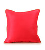 RangDesi Red Silk 16 x 16 Inch Raw Cushion Cover