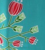 Raymond Home Turquoise Nature & Florals Cotton Queen Size Dohar